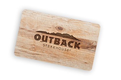 picture regarding Sonic Gift Card Printable titled Cafe Present Playing cards Outback Steakhouse
