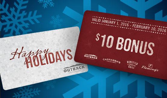 Holiday Bonus Cards